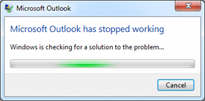 Outlook 2010 crashing